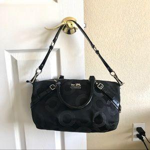 Coach Bags - Coach Madison dotted op art Sophia satchel